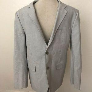 Theory men pin striped blazer size40
